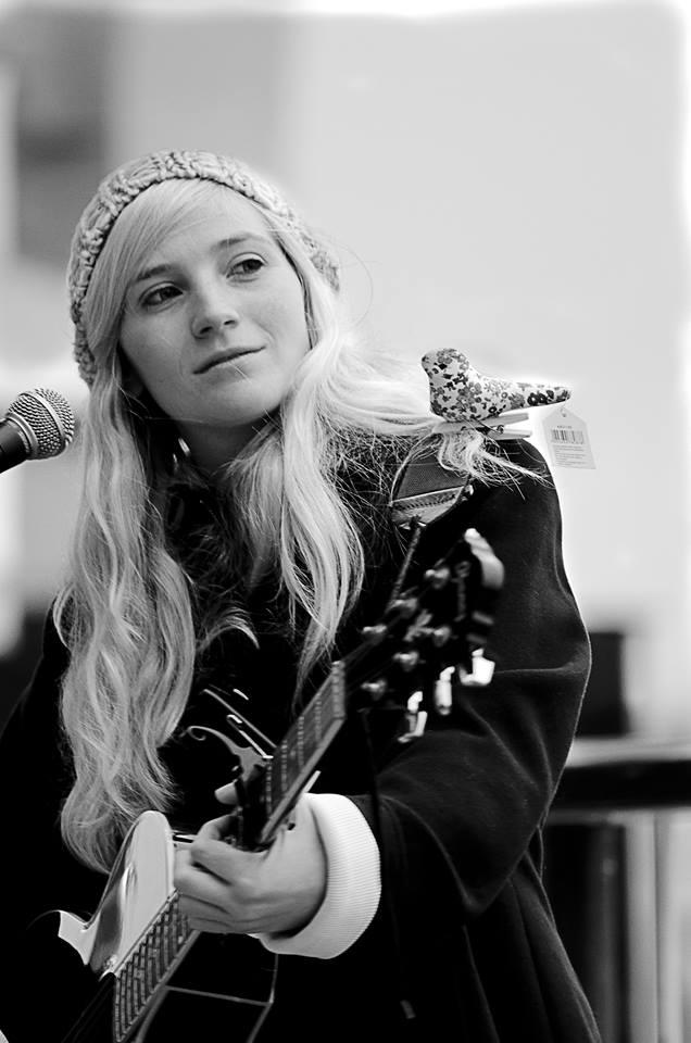Charlotte Campbell performing on London's Southbank